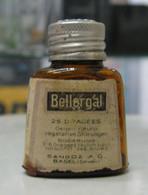 AC - BELLERGAL SANDOZ VINTAGE MEDICINE EMPTY BOTTLE - Equipo Dental Y Médica