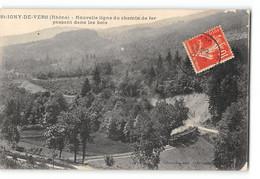 CPA 69 St Saint Igny De Vers Nouvelle Ligne Du Chemin De Fer Passant Dans Les Bois - Altri Comuni