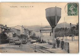 CPA 69 Tarare La Gare Du C F B Et Le Train Tramway - Tarare