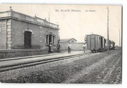 CPA 69 Blacé La Gare Et Le Train Tramway - Altri Comuni