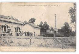 CPA 69 Le Perréon La Gare Et Le Train Tramway - Altri Comuni