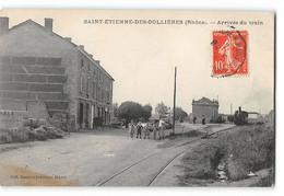 CPA 69 St Saint Etienne Des Oullieres L'arrivée Du Train Tramway - Altri Comuni