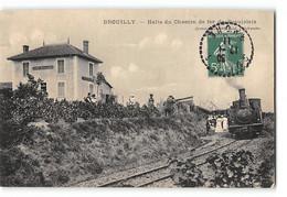 CPA 69 Brouilly La Halte Et Le Train Tramway - Altri Comuni