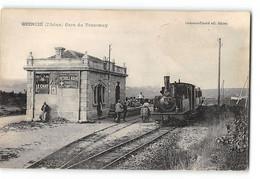 CPA 69 Quincié La Gare Et Le Train Tramway - Altri Comuni