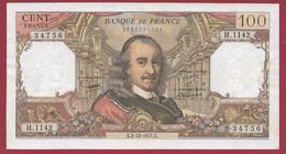 """100 Francs """"Corneille"""" Du 02/12/1977.X -----ALPH .H.1142---dans L 'état - 100 F 1964-1979 ''Corneille''"""