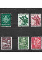 147  Allemagne III REICH LOT De 6 Timbres Année 1944 YT 816-817-818-819-820-814     Neuf ** - Nuovi