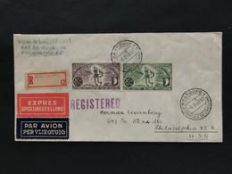 Brief 1946 Met PA12-13 Bastogne - Philadephia - Posta Aerea