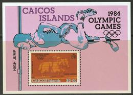 CAICOS ISLANDS - Jeux Olympiques Los Angeles - Saut En Hauteur, équitation - 1984 - Turks & Caicos
