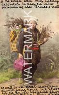 POSTED IN YOKOHAMA TRADITIONAL LADY OLD COLOUR POSTCARD JAPAN 1906 SENT TO LANDORE WALES INTERESTING MESSAGE - Yokohama