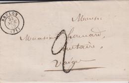 "LSC - TAXE TAMPON  ""2"" - BRULON / 21 NOV. 49 - 1849-1876: Klassieke Periode"