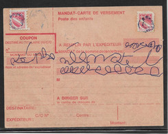 France Vignettes - Poste Enfantine Blason Sur Mandat-carte - Filatelistische Tentoonstellingen