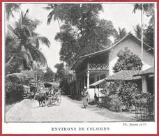 Environ De Colombo. Ceylan. Sri Lanka. Atlas Larousse. 1900. - Documents Historiques