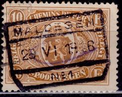 Belgium 1922-23, Parcel Post And Railway, 10fr, Sc#Q136, Used - 1923-1941