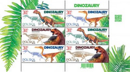 Poland 2020  Dinosaurs  Appearance And Skeletons Of Dinosaurs Found In Poland  Full Of Mini Sheet MNH** New! - Prehistorics
