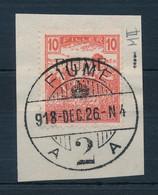 Fiume 1918 Arató 10f M II, Kivágáson. Certificate: Bodor (Sassone EUR 24.000,-) - Non Classificati