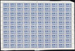 ** 1930 Szent Imre 100 Sor Hajtott Teljes ívekben (250.000) / Mi 463-466 100 Sets In Folded Complete Sheets - Non Classificati