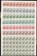 ** 1918 Köztársaság / Arató-Parlament 100 Sor Teljes ívekben (200.000) / Mi 223-235 100 Sets In Complete Sheets - Non Classificati