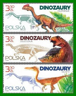 Poland 2020  Dinosaurs  Appearance And Skeletons Of Dinosaurs Found In Poland  Full Of Set MNH** New! - Prehistorics
