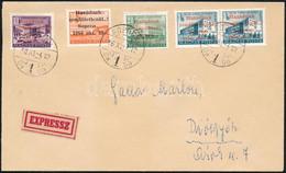 1956 Szabályosan Bérmentesített Expressz Levél 5 Db Sopron Bélyeggel Diósgyőrbe, Hátoldali Budapest átmenő Bélyegzéssel, - Non Classificati