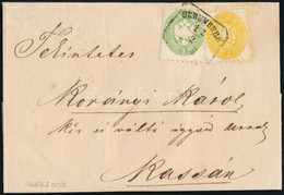 """Ca. 1866 2kr + 3kr Levélen """"OEDENBURG"""" - Kassa. Certificate: Basel - Non Classificati"""