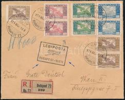 1924. Május 1 Ajánlott Légi Levél Bécsbe 23.000K Ikarusz Bérmentesítéssel - Non Classificati