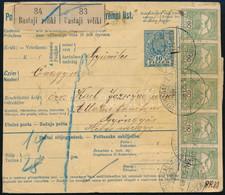 1910 Csomagszállító 2 Csomagról A Horvátországi VELIKI BASTAJIból Gyöngyösre 8,82K 21 Bélyeges Turul Bérmentesítéssel. R - Non Classificati