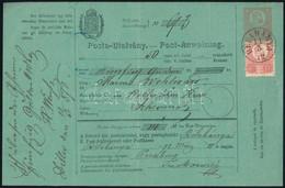 """1872 5kr Díjjegyes Postautalvány Réznyomat 5kr Kiegészítéssel, Luxus állapotban """"BÉLABÁNYA"""" - Non Classificati"""