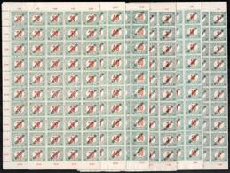 ** 1919 Köztársaság Portó Feketeszámú 50f Nélküli 100 Sor Teljes ívekben (60.000) - Non Classificati