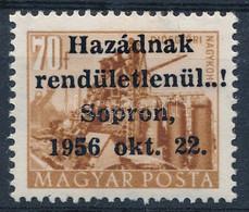 ** 1956 Sopron 70f Bévi és MEFESZ Vizsgálójellel, Tanúsítvány Nélkül (135.000) - Non Classificati