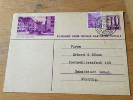 K12 Schweiz Ganzsache Stationery Entier Postal P 167I Wil - Enteros Postales