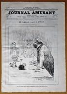 Le Journal Amusant N°1785 Du 15/11/1890 Théâtre Cléopâtre  V. Sardou Et Moreau Sarah Bernhardt/En Famille Par Forain - 1850 - 1899