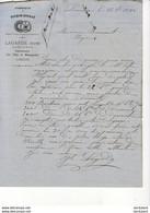 FABRIQUE DE TOURON - NOUGAT LAGARDE JEUNE à LIMOUX .......... CORRESPONDANCE COMMERCIALE DE 1880 - Alimentos