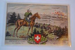 Suisse - Grenzbesetzung - Occupation Des Frontières - 1914 - Non Circulé - Ungelaufen - War 1914-18