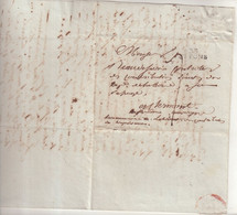 "FRANCE : MP . "" 33 ST PONS "" .  ENTETE ARMEE D'ESPAGNE . EMG DES BATILLONS DU TRAIN D'EQUIPAGES . 1814 . - Army Postmarks (before 1900)"