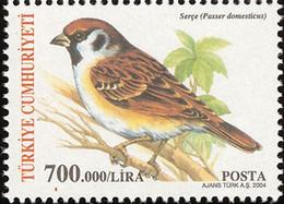 MDB-BK8-119  MINT ¤ TURKEY TURKIYE 2004 8w In Serie ¤ BIRDS OF THE WORLD - OISEAUX - BIRDS - PAJAROS - VOGELS - VÖGEL - - Songbirds & Tree Dwellers