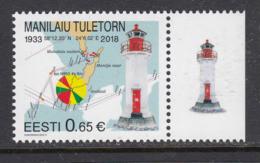 Estland 2018.Manilaiu Lighthouse. MNH. - Estonie