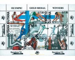 Ref. 240893 * MNH * - GUYANA. 1991. GAMES OF THE XXV OLYMPIAD. BARCELONA 1992 . 25 JUEGOS OLIMPICOS VERANO BARCELONA 199 - Verano 1900: Paris