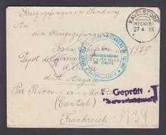 1918. DEUTSCHES REICH Kriegsgefangenen Sendung Cover From KAVELSTORF (MECKLB) 27 4 18... () - JF368659 - Mecklenbourg-Strelitz