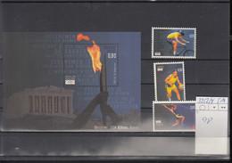 Belgien Michel Cat.No. Mnh/**  3352/3354 + Sheet 98 Olympia - Ungebraucht