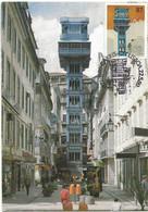 CARTE MAXIMUM - MAXICARD - MAXIMUM KARTE - MAXIMUM CARD - PORTUGAL - FUNICULAIRES PUBLIQUES DE LISBONNE - (Sta. Justa) - Other (Earth)