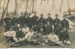 Carte-Photo : Portrait Militaire - Ordonnances Du Camp - Réservistes - Brigadier D'artillerie - Chasseur ...(BP) - Guerra, Militari