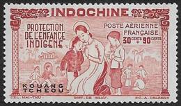 KOUANG TCHEOU   1942   -  PA  3 -  Protection De L'Enfance - NEUF* - Ungebraucht