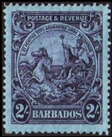 1925-1935. BARBADOS. Seal. 2 Shillings. Never Hinged. (MICHEL 144A) - JF410524 - Barbados (...-1966)