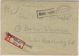 All.Bes. - Allensbach 1947 Gebühr Bezahlt Ra1 Einschreibebrief N Berlin Stempel! - Unclassified
