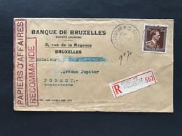 Brief RECOMMANDE * BRUXELLES 33 BRUSSEL * - PAPIERS D'AFFAIRES RECOMMANDE - 1936-1957 Open Collar