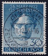 ✔️ West Berlin 1952 - Ludwig Von Beethoven Zentral Gestempelt Luxus - Mi. 87 (o) - €30 - Gebraucht