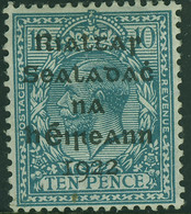 IRELAND EIRE 1922 KGV 10d Overprint SG 9 Mounted Mint - Unused Stamps
