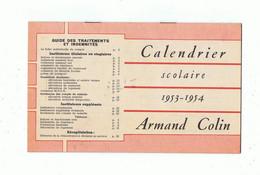 Calendrier Scolaire 1953-1954 Armand Colin - Kleinformat : 1941-60