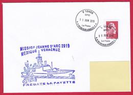 4832 Marine, FLF La Fayette, Mission Jeanne D'Arc 2019, Escale à Véracruz, Mexique, Oblit. Manuelle Circulaire V SPID 10 - Posta Marittima