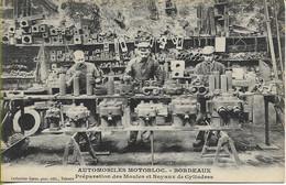 BORDEAUX  Automobiles MOTOBLOC  Préparation Des Moules Et Noyaux De Cylindres  (belle Scène De Travail - Carte Rare) - Bordeaux